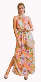 Vestido Longo Fenda Lateral Moda Evangélica Tendencia