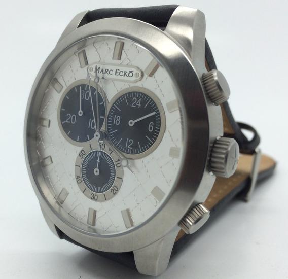 Relógio Marc Ecko Cronógrafo Pulseira Em Couro Original
