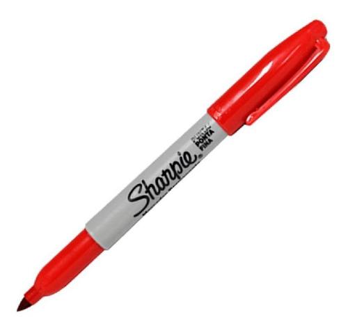 Marcador Sharpie Permanente Punta Fina Color Rojo 1 Unidad