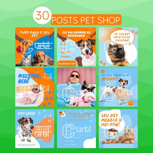 Imagem 1 de 6 de Pack De Artes Prontas Para Rede Social Pet Shop