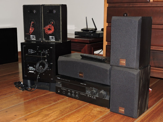 Home Theater Yamaha Rx V396 Subwoofer Yst-sw030 + Caixas Ler
