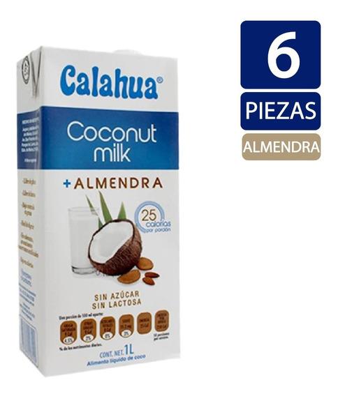 Leche De Coco + Almendra Calahua 1 Litro - 6 Piezas