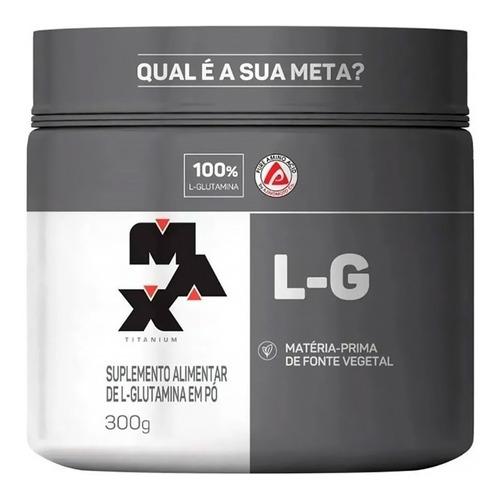 Imagem 1 de 2 de Glutamina Aminoácido 100% Pura 300gr - Max Titanium