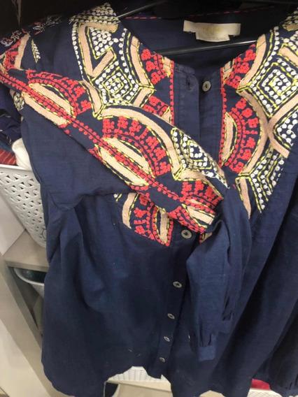 Camisa Divina Bordada Integra Muy Rapsodia