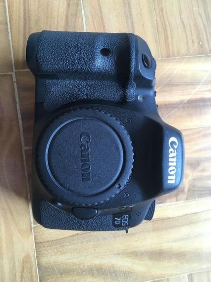 Canon 7d + Lente 18-55 + Cartao Cf - Super Conservada
