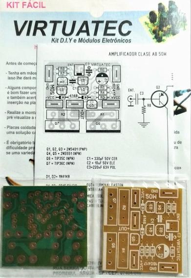 2 Placas P/ Montar Amplificador 50w Classe Ab - Fenolite