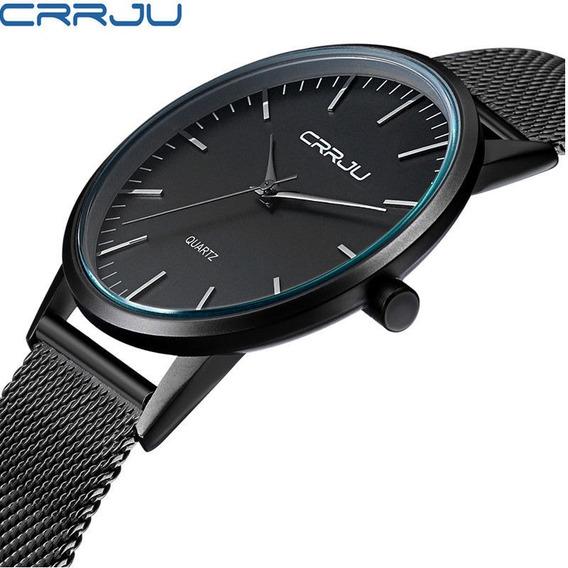 Relógio Masculino Crrju 2117 Ultra Fino Luxo Executivo