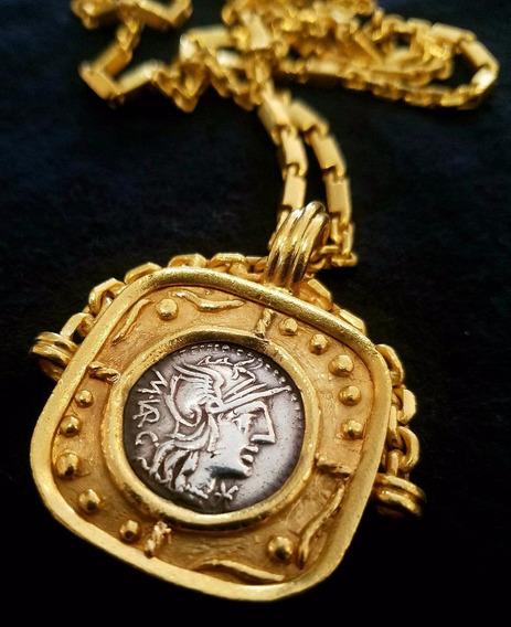 Cadena Romano De 22k De Oro Con 92.5 Gramos En Peso!