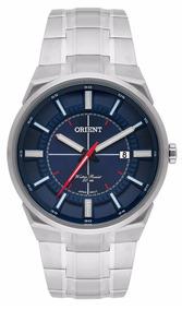 Relógio Orient Masculino Prata Mbss1328 D1sx Calendário