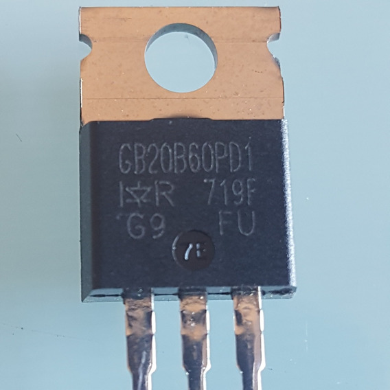 1pç - Transistor Smps Igbt Irgb20b60pd1 To220 Ir (cód. Int. 1140)