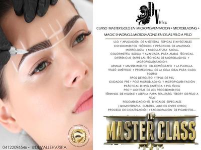 Curso Master Gold En Microblading, Shading,micropigmentacion