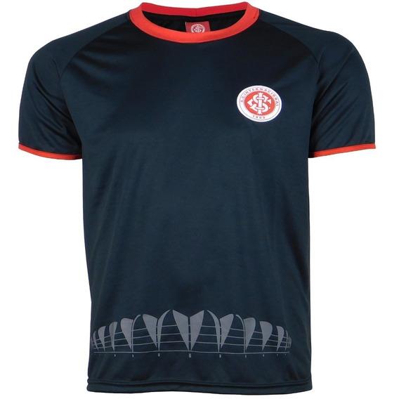Camisa Inter Preto Masculina Dry Internacional Oficial Times