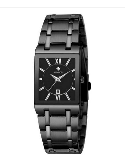 Wwoor Lindo Relógio Masculino Moda 2020 Preto