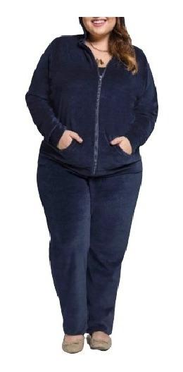 Agasalho Conjunto De Moletom Plush Feminino Plus Size