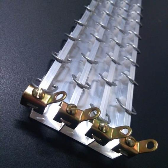 Trilho Em Alumínio Para Cortina - Modelo Antigo - Completo
