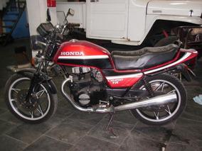 Honda Cb 450 Tr 1987 Vermelha E Preta Toda Original Raridade