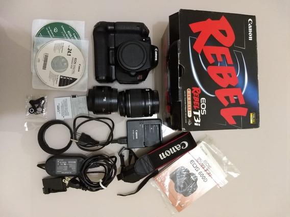 Kit - Câmera Cânon T3i | 50mm |18 55mm | Grip Frete Grátis