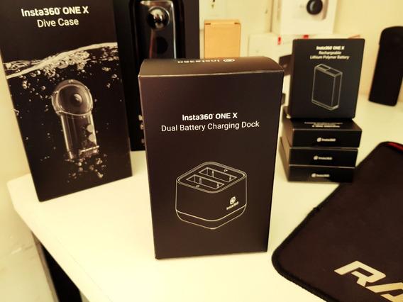Carregador Oficial Original Insta360 One X Duplo Bateria