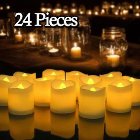 24pcs Velas Sin Llama Con Pilas Parpadea Led Té Luz U.s....