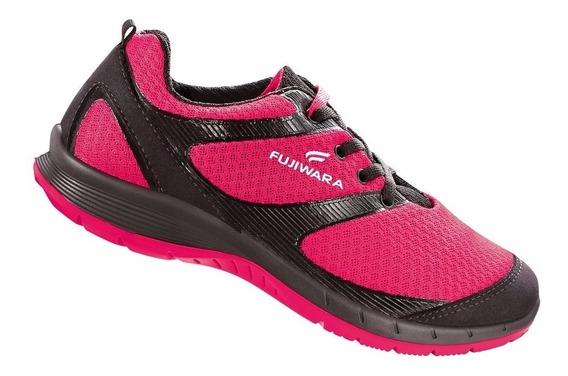Tenis Sapato De Segurança Fujiwara Rosa Com Ca36530