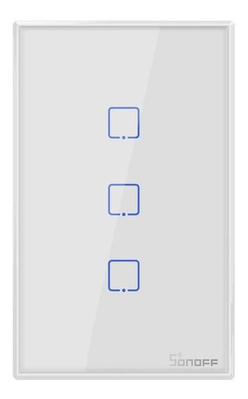 Interruptor Touch De Pared Sonoff De 3 Apagadores