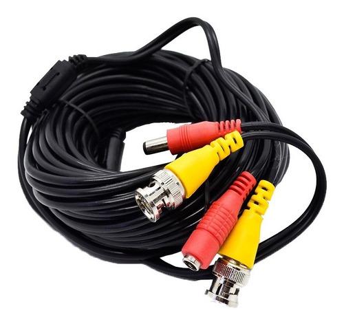 Imagen 1 de 9 de Cable Coaxil 15mts Con Alimentacion Camara. Pv15