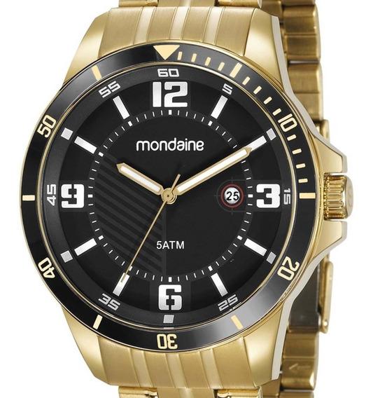 Relógio Mondaine Masculino 78759gpmvda2 Dourado + Nota