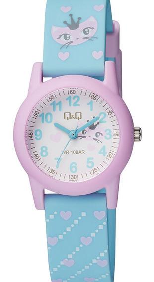 Relógio Feminino Infantil Rosa E Azul Prova D