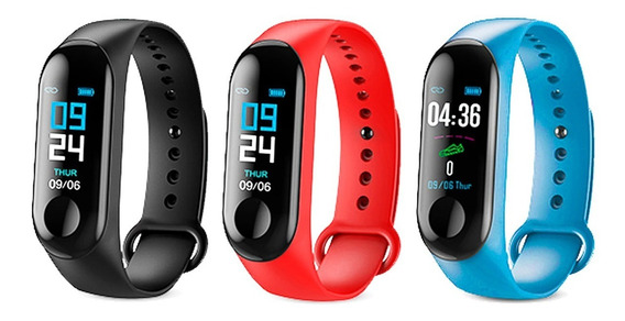 Pulsera Inteligente Smart Band Reloj M3 Multi Deporte Ip67