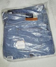 Pantalon Jeans Talla 54 X 32 Mezclilla Deslavada En Bolsa.