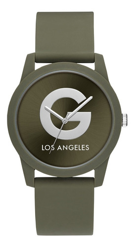 Reloj G By Guess G Craze Unisex,color Verde Militar G49003l4