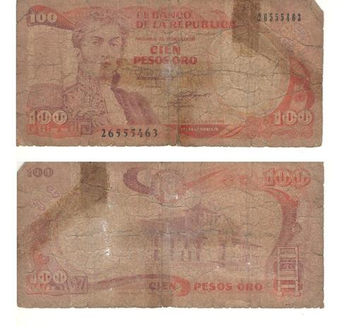 Imagen 1 de 1 de Colombia 100 Pesos, 12 De Octubre 1986