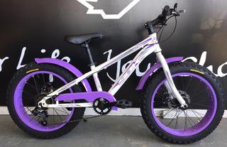 Biciceta Fat Bike Sbk Rueda De Moto Rodado 20 Para Ñiños