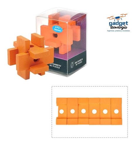 Rompecabezas De Madera 3d Classic Iq  Puzzle Lógica Mente