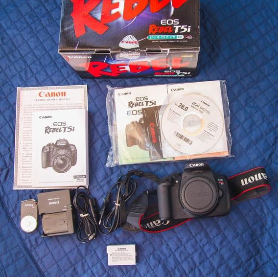 Canon T5i (corpo) Na Caixa + Bat. Extra - 6,6 Mil Clicks