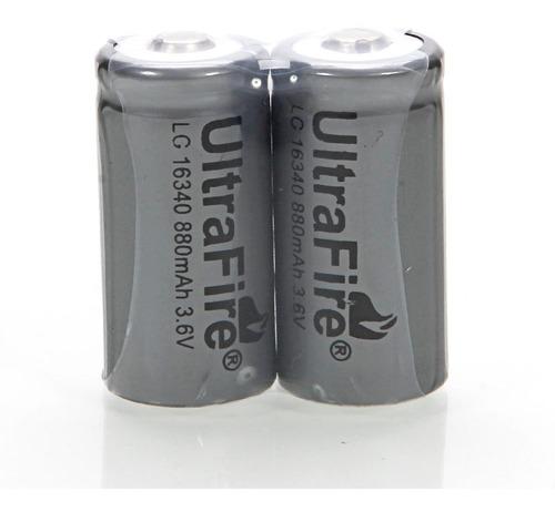 Imagem 1 de 1 de Bateria 16340 Recarregável Li-ion 880mah 3.6v