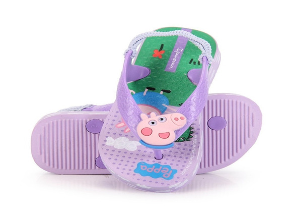 Chinelo Ipanema Peppa Pig Baby Elástico Violeta/ Lilas