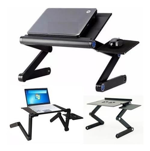 Mesa Cooler Usb Para Laptop Aluminio Graduable + Posa Mouse