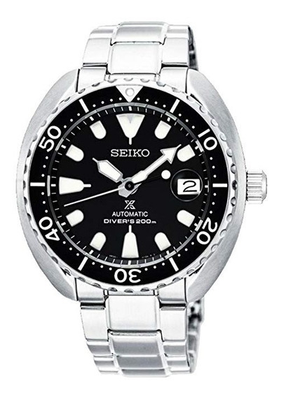 Reloj Seiko Mini Turtle Negro Acero Buzo Srpc35