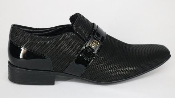 Sapato Jotape Couro Air Bag Bico Fino Preto