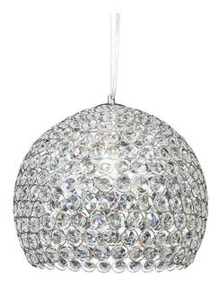 Colgante Esfera Cristal Cairel Cromo 30cm Copen Apto Led Mks