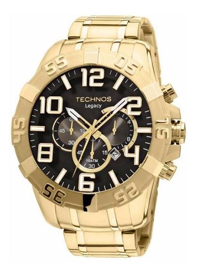 Relógio Technos Masculino Dourado Classic Legacy Grande