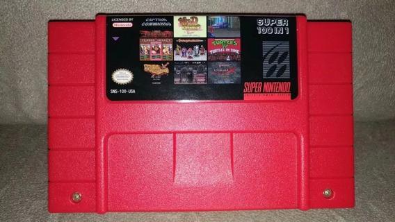 Fita / Cartucho 100 In 1 Jogos Super Nintendo