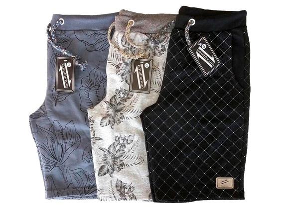 Kit Com 10 Shorts Moletom Masculinos De Ótima Qualidade