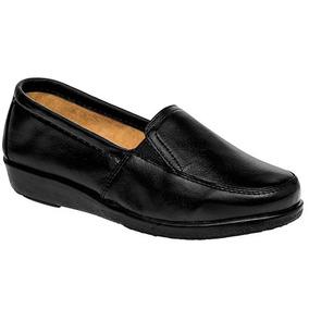 Zapatos Casual Mocasines Florenza Dama Piel Negro 38337 Dtt