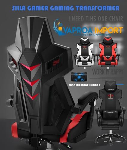 Silla Gamer Gaming Transformer Masajeador Reclinable,oficina