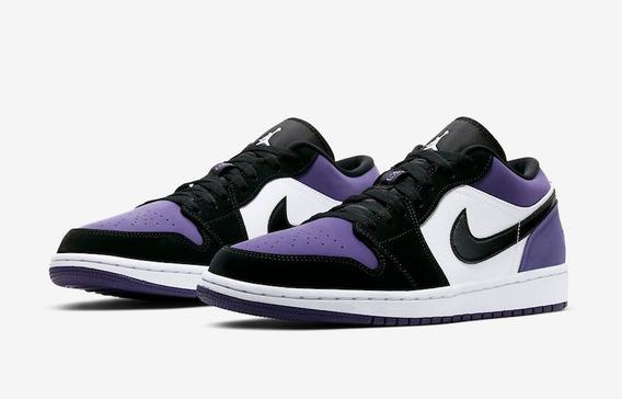 Zapatillas Nike Air Jordan 1 Low Court Morado // Nuevo 2019
