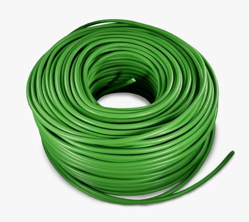 Imagen 1 de 1 de Cable Eléctrico Calibre 8 Thw Alucobre 100m Unipolar Verde