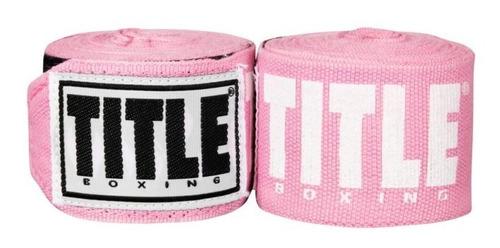 Par De Vendas Box Title Elite 4.5 M Color Rosa