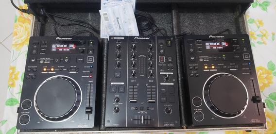 Kit Cdj Pioneer Dj 350 + Mix Pioneer Dj M350 C/ Nota Fiscal